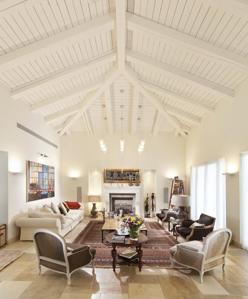 סלון הבית – פרוייקט אחוזה ביישובי גדרות - ארטפרו
